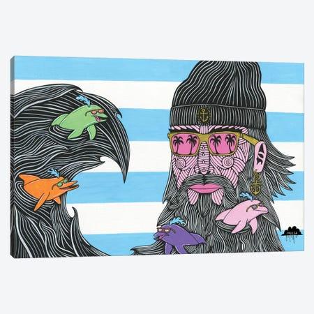 Dolphin Beard Donnie Canvas Print #JOL15} by MULGA Canvas Art