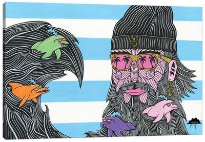 Dolphin Beard Donnie Canvas Art Print