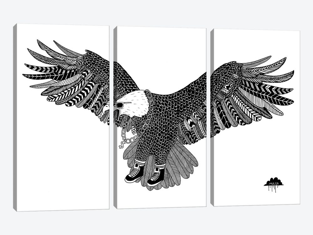 Eggbert The Most Excellent Eagle by MULGA 3-piece Canvas Art