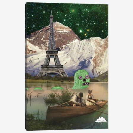 Eiffel Tower Canvas Print #JOL20} by MULGA Canvas Art