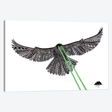 Falcon With Lazer Beams Canvas Print #JOL22} by MULGA Canvas Artwork