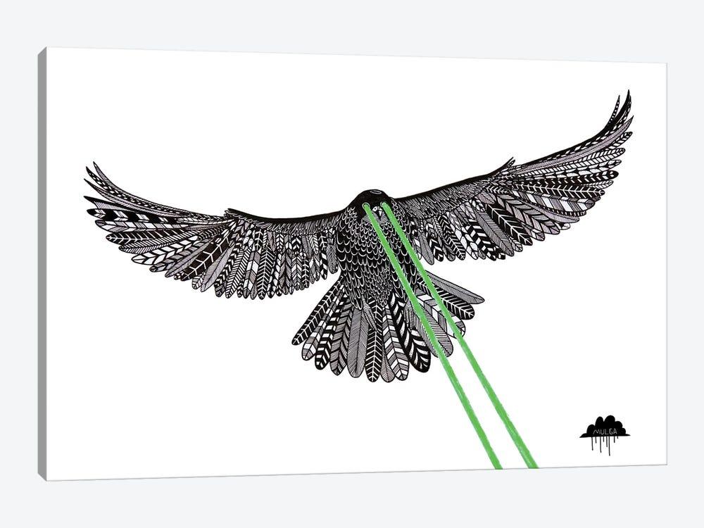 Falcon With Lazer Beams by MULGA 1-piece Canvas Art