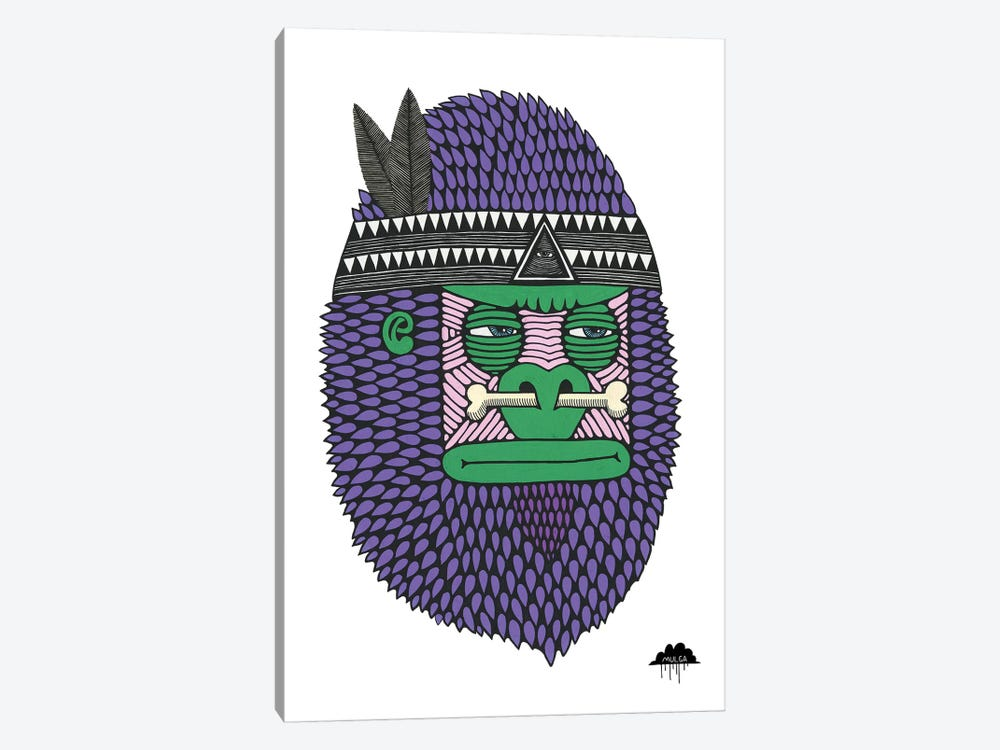Featherbone The Brave by MULGA 1-piece Canvas Print