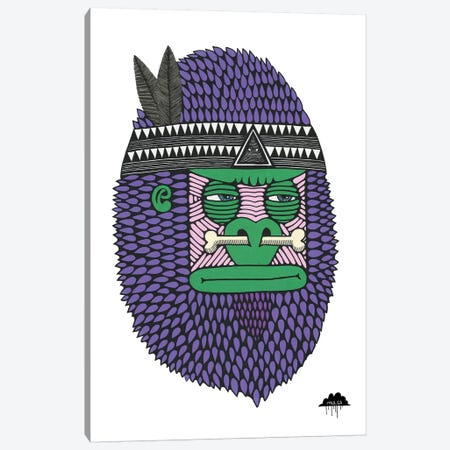 Featherbone The Brave Canvas Print #JOL23} by MULGA Canvas Artwork