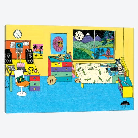 Mulgas Magical Musical Creatures: Bedroom Scene Canvas Print #JOL25} by MULGA Canvas Print