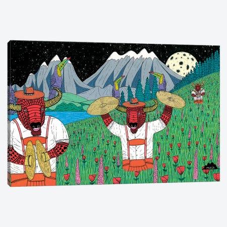 Mulgas Magical Musical Creatures: Bisons Canvas Print #JOL26} by MULGA Canvas Art Print