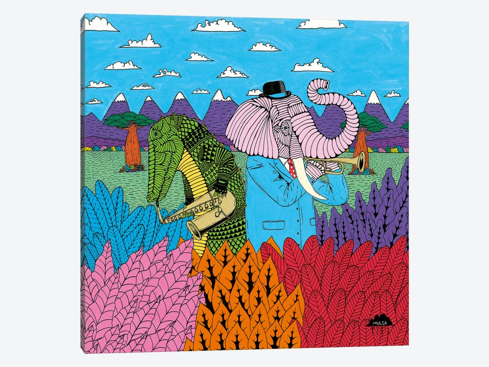 Mulgas Magical Musical Creatures, Cover by MULGA 1-piece Art Print