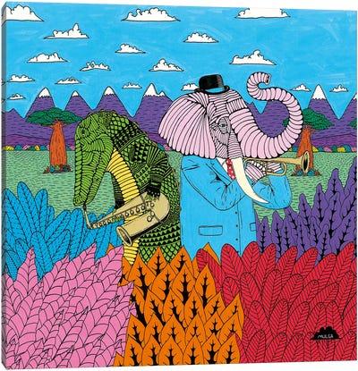 Mulgas Magical Musical Creatures, Cover Canvas Art Print