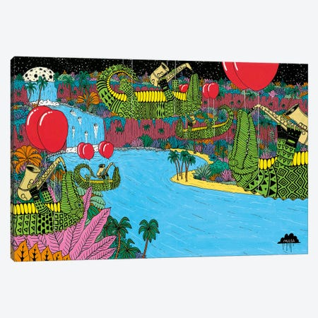 Mulgas Magical Musical Creatures: Crocs Canvas Print #JOL28} by MULGA Canvas Artwork