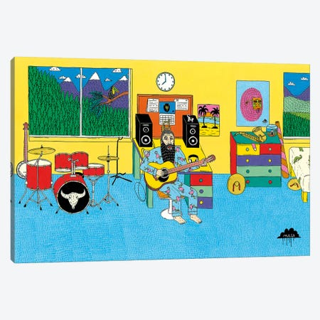 Mulgas Magical Musical Creatures: Bedroom Canvas Print #JOL29} by MULGA Canvas Artwork