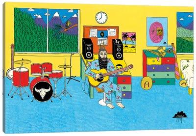 Mulgas Magical Musical Creatures: Bedroom Canvas Art Print