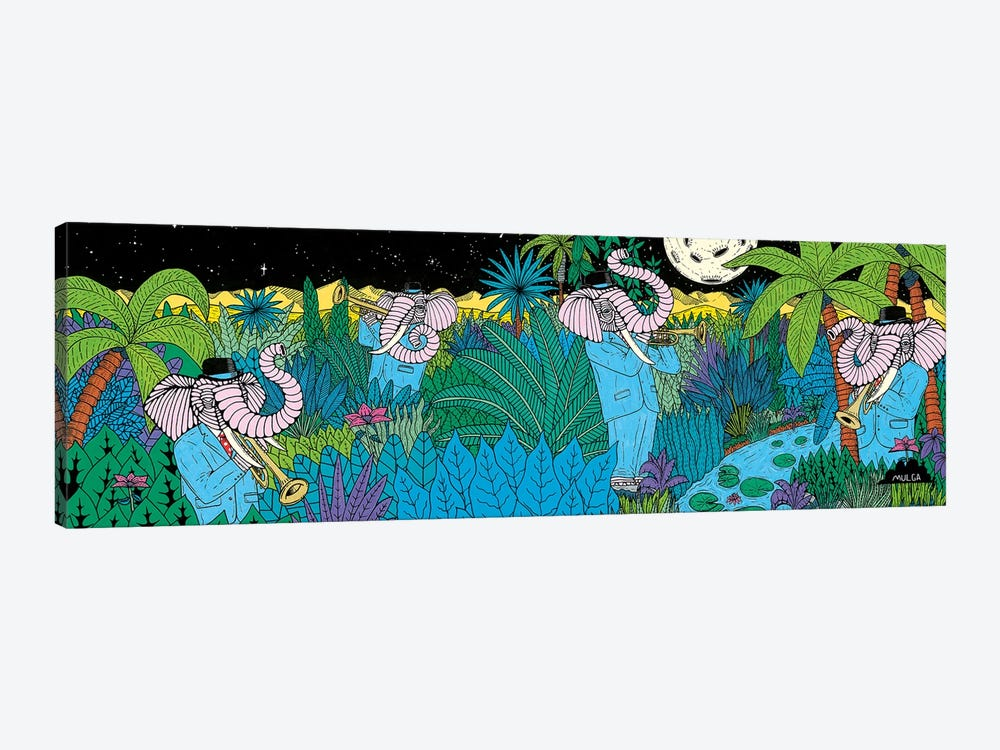 Mulgas Magical Musical Creatures: Elephant by MULGA 1-piece Canvas Print