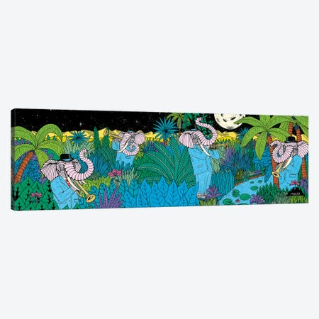 Mulgas Magical Musical Creatures: Elephant Canvas Print #JOL30} by MULGA Canvas Print