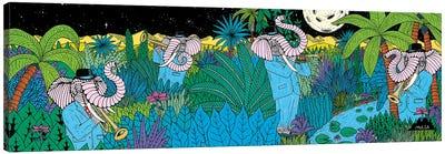 Mulgas Magical Musical Creatures: Elephant Canvas Art Print