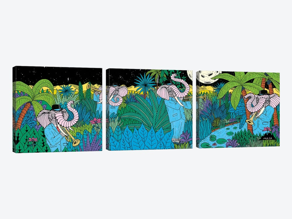 Mulgas Magical Musical Creatures: Elephant by MULGA 3-piece Art Print