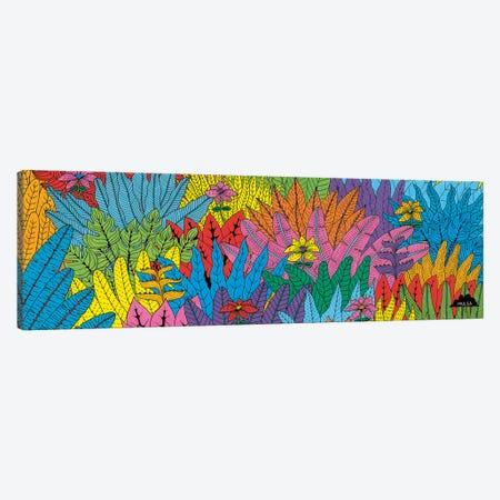 Mulgas Magical Musical Creatures: Leaf Pattern Canvas Print #JOL34} by MULGA Canvas Wall Art