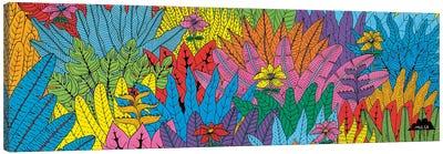 Mulgas Magical Musical Creatures: Leaf Pattern Canvas Art Print