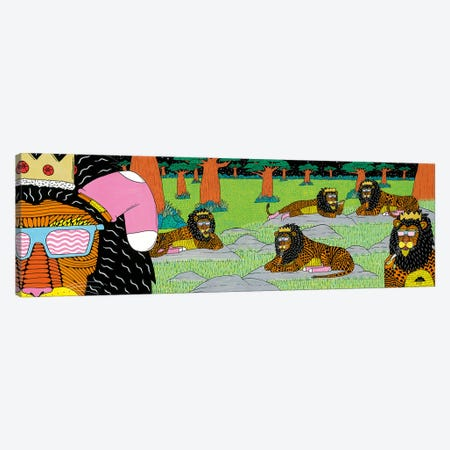 Mulgas Magical Musical Creatures: Lions Canvas Print #JOL35} by MULGA Canvas Art