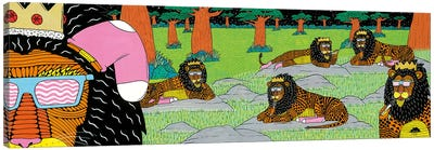 Mulgas Magical Musical Creatures: Lions Canvas Art Print