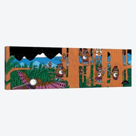 Mulgas Magical Musical Creatures: Owls Canvas Print #JOL36} by MULGA Canvas Wall Art