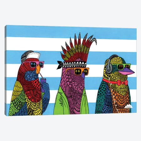 3 Rad Birds Canvas Print #JOL39} by MULGA Canvas Print