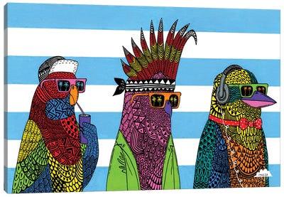 3 Rad Birds Canvas Art Print