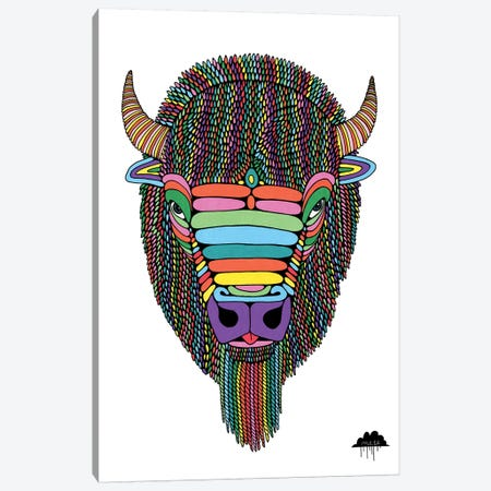 Barry The Bison Canvas Print #JOL3} by MULGA Canvas Art