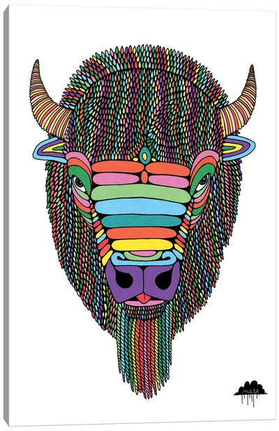 Barry The Bison Canvas Art Print