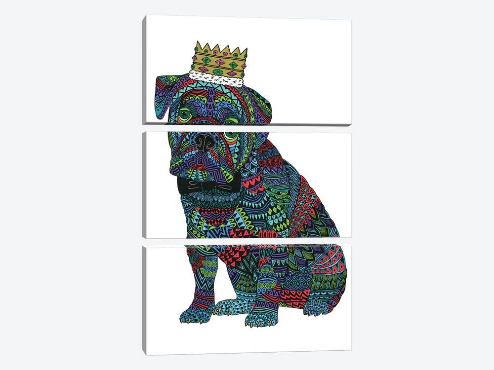 Billy The Bulldog by MULGA 3-piece Canvas Wall Art