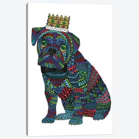 Billy The Bulldog Canvas Print #JOL40} by MULGA Canvas Wall Art