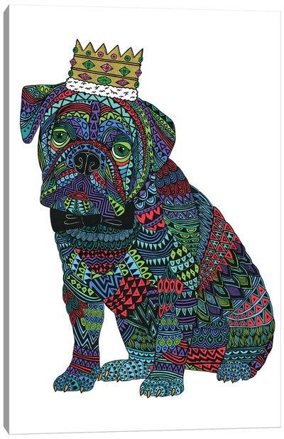 Billy The Bulldog Canvas Art Print