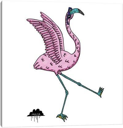 Bronhilda Flamingo Canvas Art Print