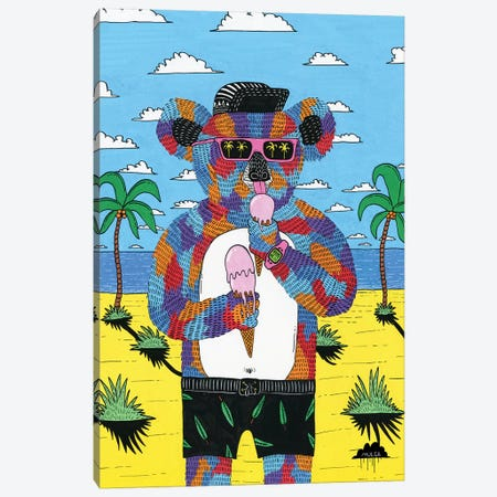 Icecream Ian The Koala Canvas Print #JOL44} by MULGA Canvas Art Print