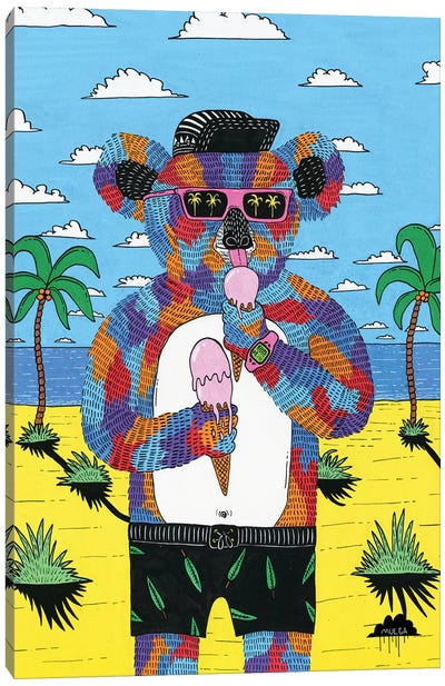 Icecream Ian The Koala Canvas Art Print
