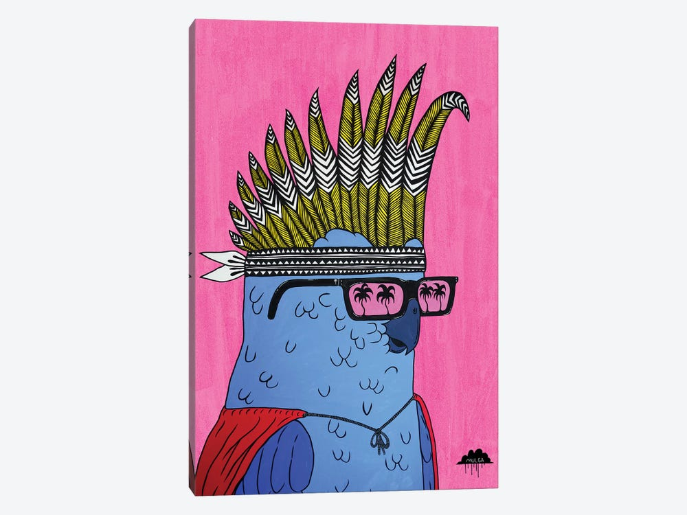 Kevin The Cockie by MULGA 1-piece Canvas Art Print