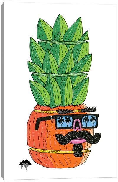 Pineapple Head Canvas Art Print
