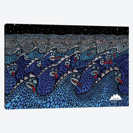 Sea Beasties Canvas Print #JOL48} by MULGA Canvas Artwork