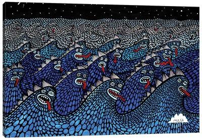 Sea Beasties Canvas Art Print