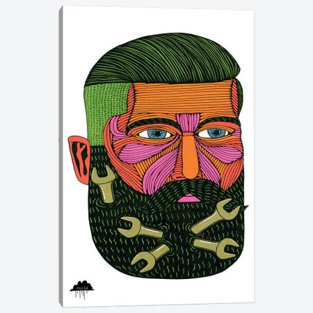 Spanner Beard Samson Canvas Print #JOL49} by MULGA Canvas Artwork