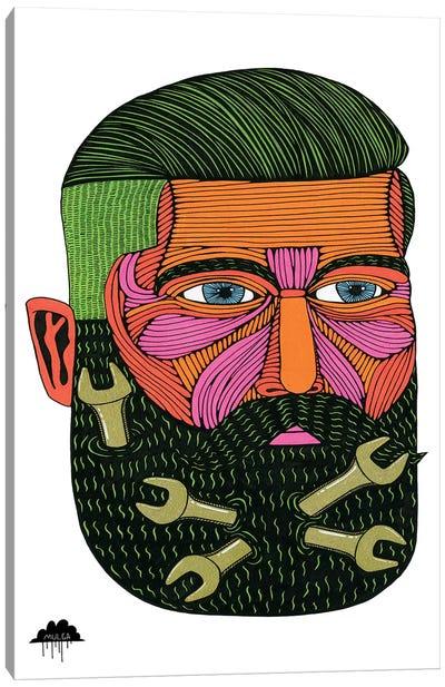 Spanner Beard Samson Canvas Art Print