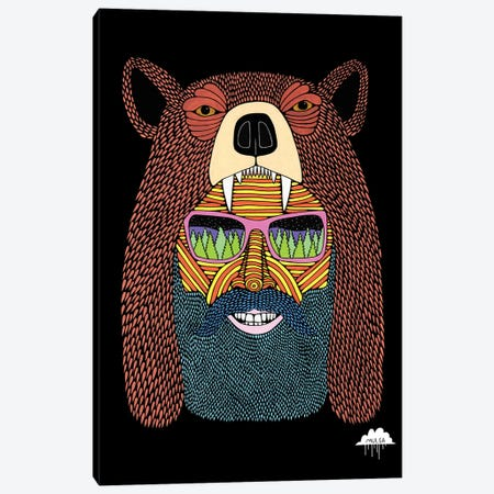 Bear Hat Bob Canvas Print #JOL4} by MULGA Canvas Print