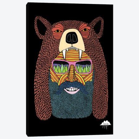 Bear Hat Bob Canvas Print #JOL4} by MULGA Canvas Print