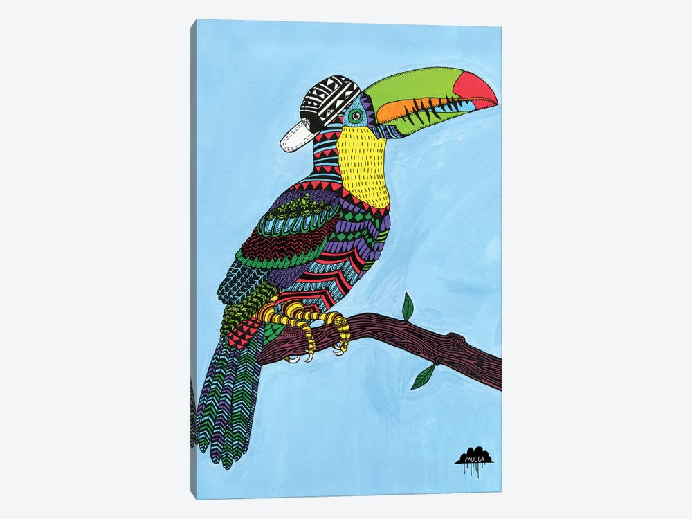 Timothy The Toucan by MULGA 1-piece Canvas Print