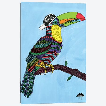 Timothy The Toucan Canvas Print #JOL52} by MULGA Canvas Art Print