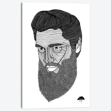 Bearded Elvis Canvas Print #JOL5} by MULGA Art Print