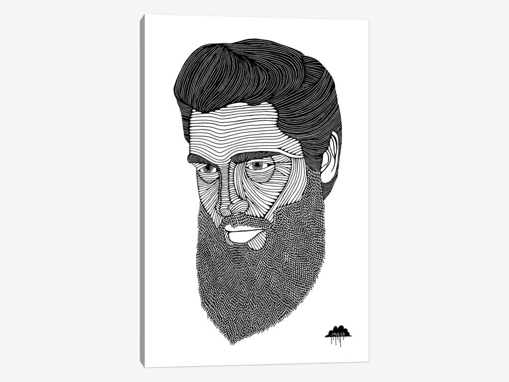 Bearded Elvis by MULGA 1-piece Canvas Art Print