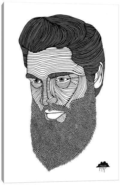 Bearded Elvis Canvas Art Print