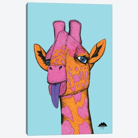 Bronweena The Giraffe Canvas Print #JOL6} by MULGA Art Print