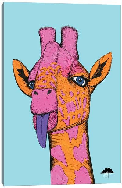 Bronweena The Giraffe Canvas Art Print