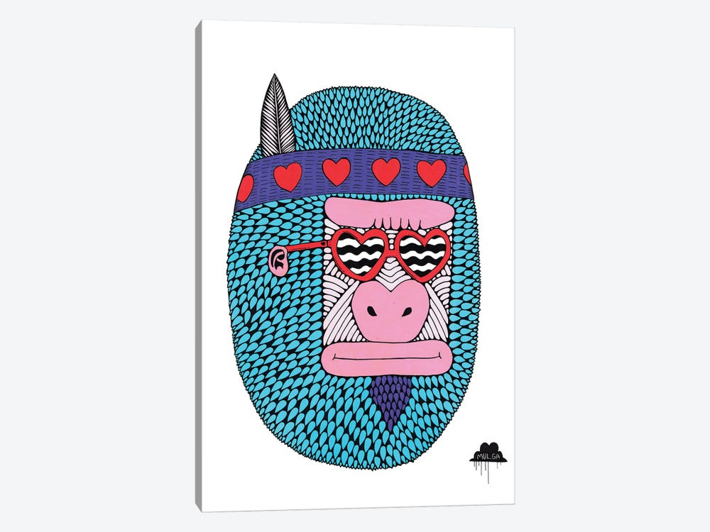 Camilla The Love Gorilla by MULGA 1-piece Art Print